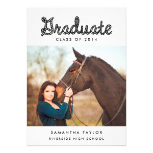 Western Themed Graduation Party Invitation