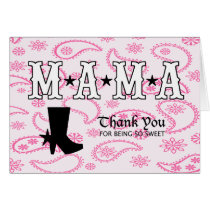Western Themed Thank You Card