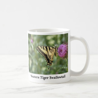 Western Tiger Swallowtail Butterfly Classic White Coffee Mug