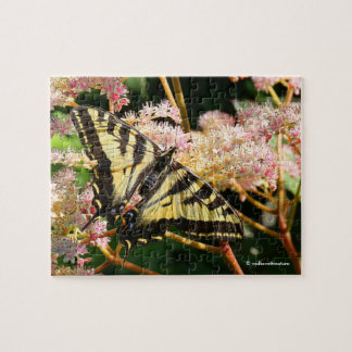Western Tiger Swallowtail Butterfly on Rodgersia Jigsaw Puzzle