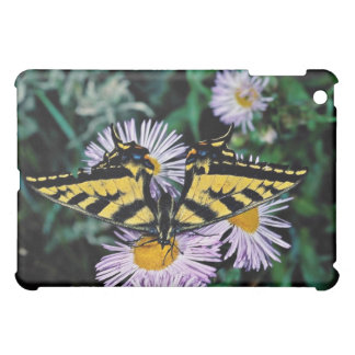 Western tiger swallowtail on pink aster flowers iPad mini covers