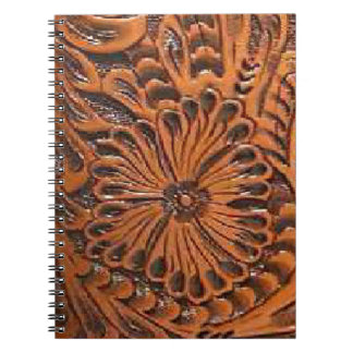 Western Tool Leather Print Spiral Notebook