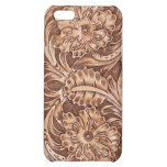Western Tooled Leather-look Texture 3 iPhone Case iPhone 5C Cover