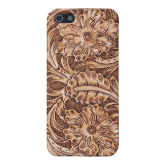 Western Tooled Leather-look Texture 3 iPhone Case