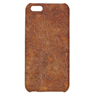 Western Tooled Leather-look Texture iPhone Case iPhone 5C Cases