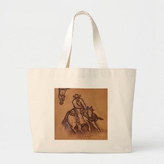 Western tooled leather Riding Cowboy Bags