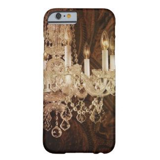 Western tooled leather rustic chic chandelier barely there iPhone 6 case