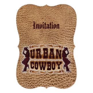 Western tooled leather Urban Cowboy Card