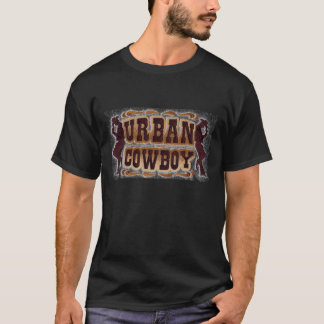 Western tooled leather Urban Cowboy T-Shirt