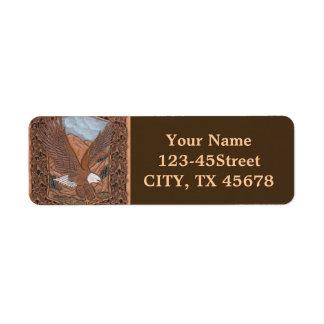 Western tooled leather Vintage Eagle Label
