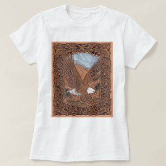 Western tooled leather Vintage Eagle T-Shirt