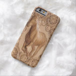 Western tooled leather Vintage horse Barely There iPhone 6 Case