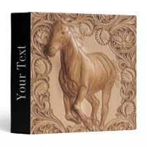 Western tooled leather Vintage horse Binder