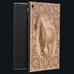 "Western tooled leather Vintage horse iPad Air Case<br><div class=""desc"">Western tooled leather Vintage horse</div>"