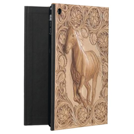 Vintage Book Cover For Ipad Air : Western tooled leather vintage horse ipad air case