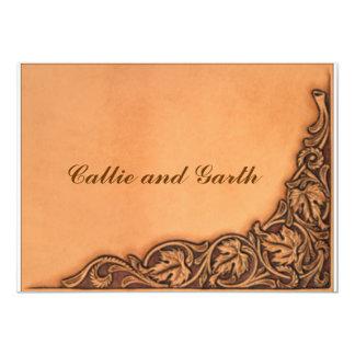 Western Tooled Wedding Invitation