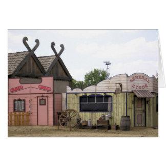 Western Town Card
