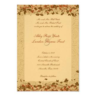 Western Trace Fall Wedding Invitation