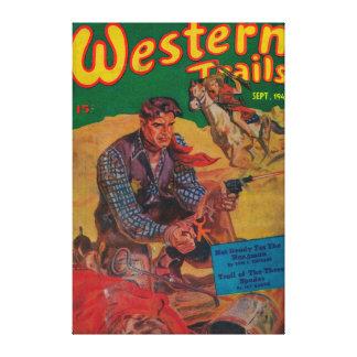 Western Trails Magazine Cover 2 Canvas Print