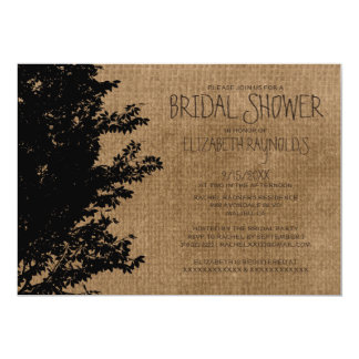 Western Tree Branches Bridal Shower Invitations Card