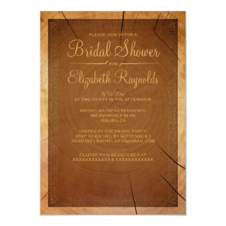 Western Tree Rings Bridal Shower Invitations Personalized Invitations
