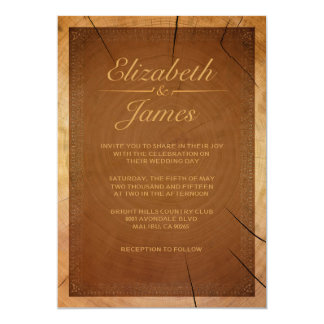 Western Tree Rings Wedding Invitations Personalized Invite