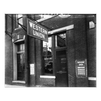 Western Union 1930 viejos blancos y negros Fotografía