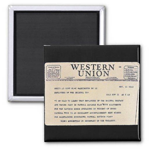 Western Union Imán Cuadrado