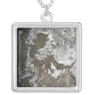 Western United States Square Pendant Necklace