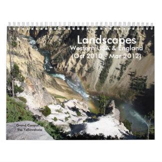 Western US & England Landscapes Calendar