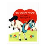 Western Valentine Card (2) Postcard