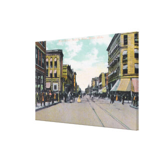 Western View from Main StreetBoise, ID Stretched Canvas Print