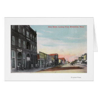 Western View from Main StreetKennewick, WA Card