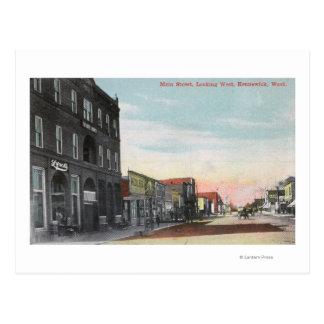 Western View from Main StreetKennewick, WA Postcard