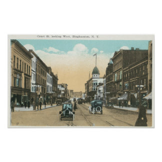 Western View of Court Street Poster