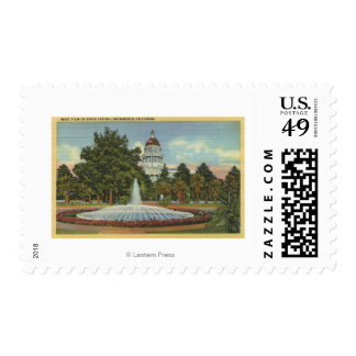 Western View of the State Capitol Postage Stamp