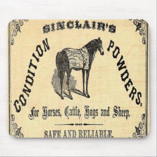 Western Vintage Ad Horse Powders Mousepad