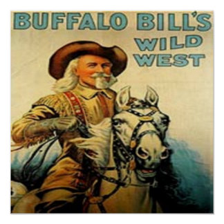 Western Vintage Buffalo Bill Art Print