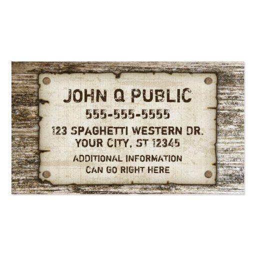 Western Vintage Business Cards