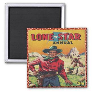 Western Vintage Cowboy 2 Inch Square Magnet