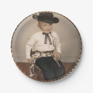 Western Vintage Cowboy Kid Party Plates