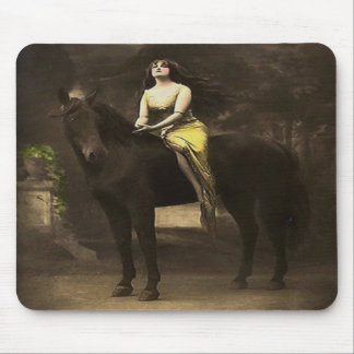 Western Vintage Horse Flapper Lady 1920's Mousepad