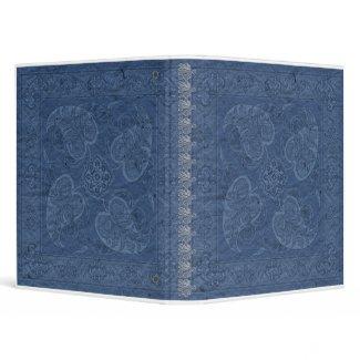 Western Vintage look blue Bandana Binder zazzle_binder