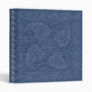 Western Vintage look blue Bandana Binder