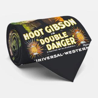 Western Vintage Movie Poster Hoot Gibson Neck Tie