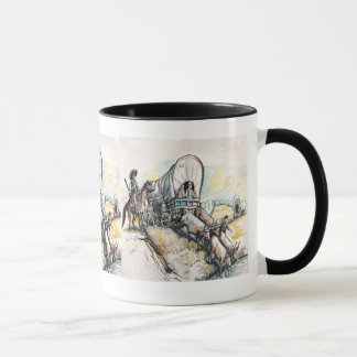 Western Wagon Train Mug