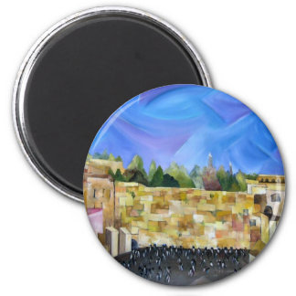 Western Wall 2 Inch Round Magnet