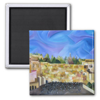 Western Wall 2 Inch Square Magnet