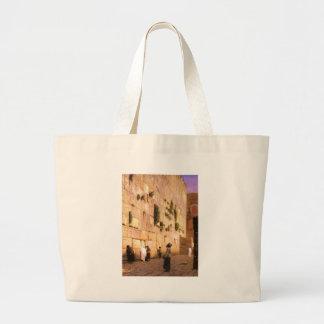 Western Wall Tote Bags