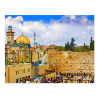 Western Wall in Jerusalem Postcard